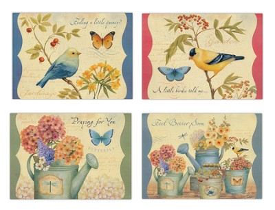 Botanical Charm, Get Well Cards, Box of 12  -     By: Daphne B