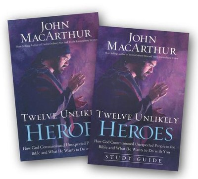 Twelve Unlikely Heroes, Softcover and Study Guide, 2 Volumes  -     By: John MacArthur