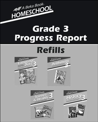 Abeka Grade 3 Homeschool Progress Report Refills   -