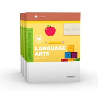 Lifepac Language Arts, Grade 2, Workbook Set   -     By: Alpha Omega