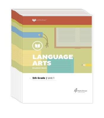 Lifepac Language Arts, Grade 5, Workbook Set   -     By: Alpha Omega