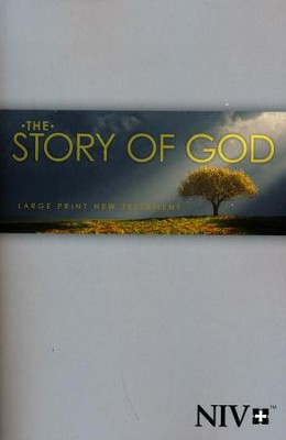 NIV Large-Print The Story of God New Testament, softcover  -