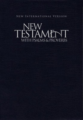 NIV New Testament with Psalms and Proverbs--softcover, blue  -