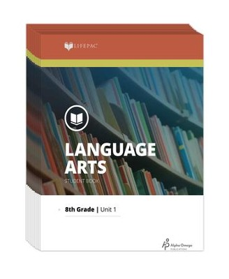 Lifepac Language Arts, Grade 8, Workbook Set   -     By: Alpha Omega
