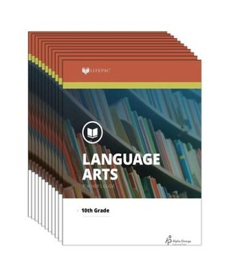 Lifepac Language Arts, Grade 10, Workbook Set   -     By: Alpha Omega
