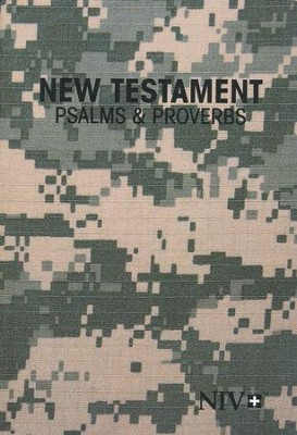NIV New Testament with Psalms and Proverbs, Military Edition, Softcover  -