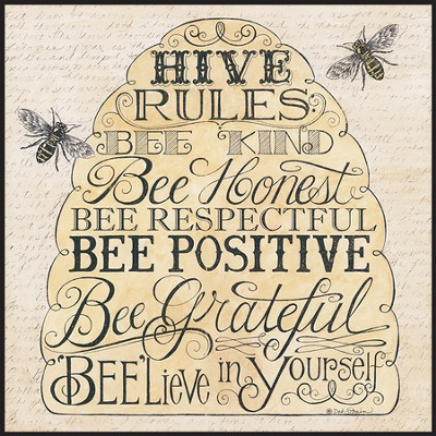 Hive Rules, Wall Art  -