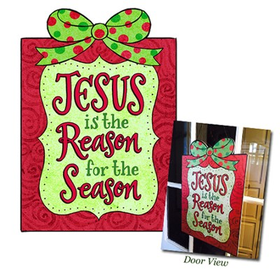 Jesus is the Reason For the Season Door Hanger  -