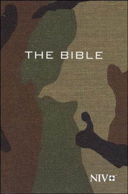NIV Compact Bible, Green Camouflage  -