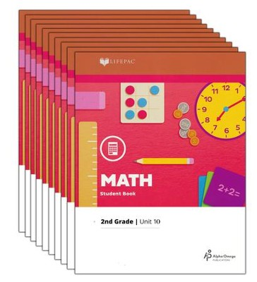 Lifepac Math, Grade 2, Workbook Set   -     By: Alpha Omega