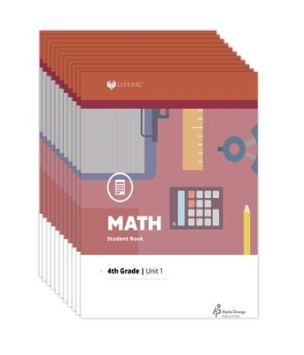 Lifepac Math, Grade 4, Workbook Set   -     By: Alpha Omega