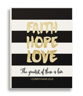Faith Hope Love, Glitter Plaque  -