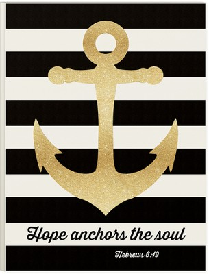 Hope Anchors The Soul (Hebrews 6:19), Picture With Glitter, 12 Wx16 H  -