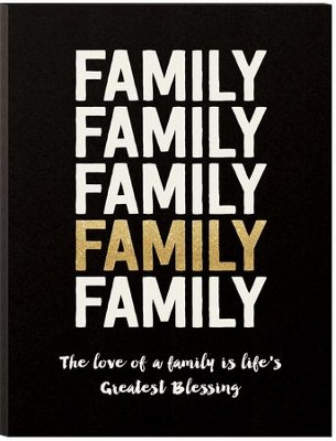 Family, Glitter Plaque  -