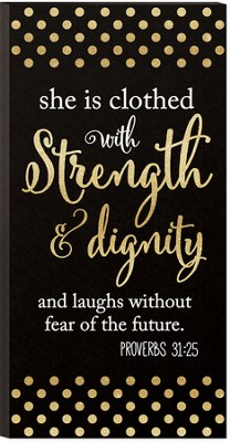 She Is Clothed With Strength and Dignity, Glitter Art  -
