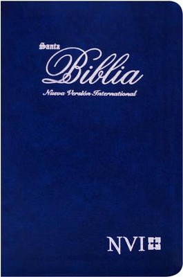 Biblia Ultrafina NVI, Piel Imitada Azul  (NVI Slimline Bible, Imitation Leather, Blue)  -