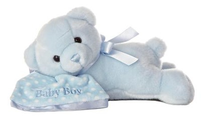 Comfy Boy Sleeping Bear with Blanket  -