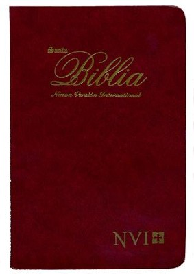 Biblia Ultrafina NVI, Piel Imitada Vino  (NVI Slimline Bible, Imitation Leather, Burgundy)  -     By: Biblica