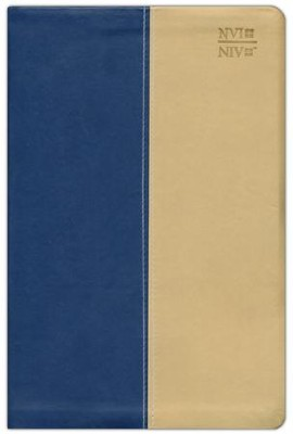 NVI / NIV Spanish/English Bible, Blue DuoTone Leather  -