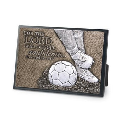 The Lord Will Be Your Confidence, Soccer Plaque  -