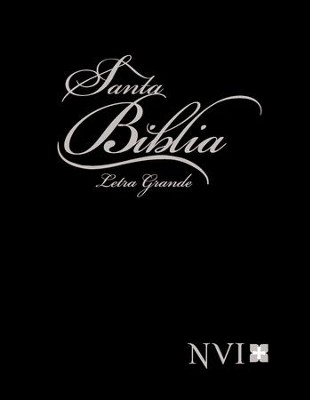NVI Spanish Larger Print Bible with Concordance - Black  -