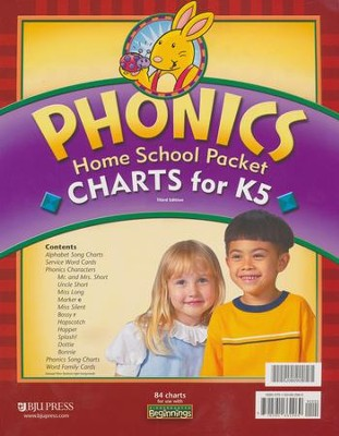 BJU K5 Beginnings, Phonics Charts Homeschool Packet (3rd Edition)   -