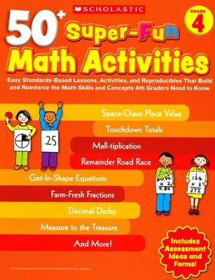 50+ Super-Fun Math Activities: Grade 4: Math Skills and Concepts 4th Graders Need to Know  -     By: Jack Silbert
