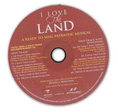 I Love This Land: A Ready to Sing Patriotic Musical (Split-Track Accompaniment CD)  -