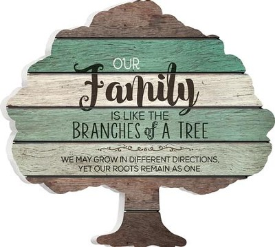 Our Family Is Like the Branches Of A Tree, Shaped Pallet Art  -