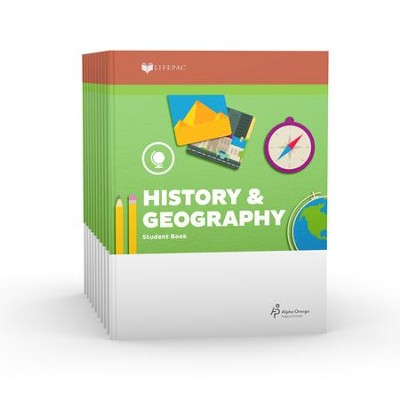 Lifepac History & Geography Workbook Set, Grade 1   -     By: Alpha Omega