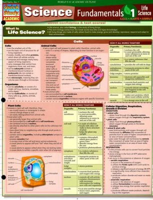 Science Fundamentals 1: Life Science-Cells, Plants, Animals, Laminated Guide  -