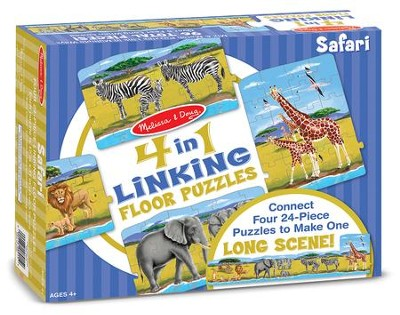 Safari Linking Floor Puzzle, 96 Pieces  -