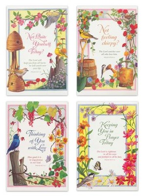 Garden Blooms, Get Well Cards, Box of 12  -