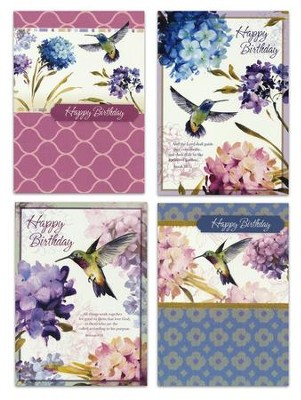 Spring Nectar, Birthday Cards, Box of 12  -     By: Lisa Audit