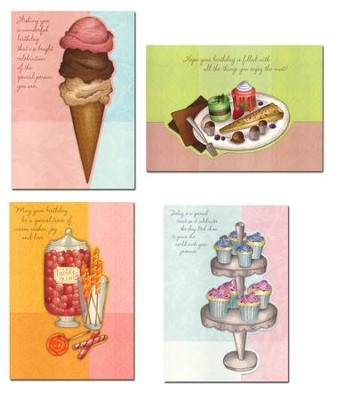 Sweet Celebrations, Birthday Cards, Box of 12  -
