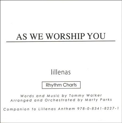 As We Worship You (Rhythm Charts CD-ROM   -