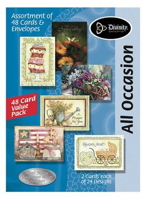 All Occasion KJV Greeting Cards, Box of 48  -