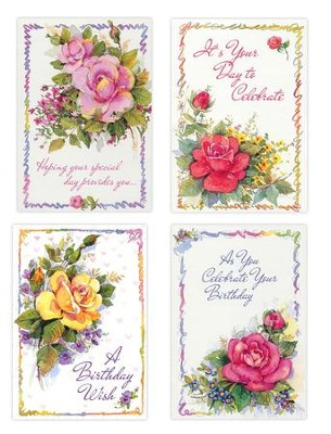 Celebrating You, Floral Birthday Cards, Box of 12  -