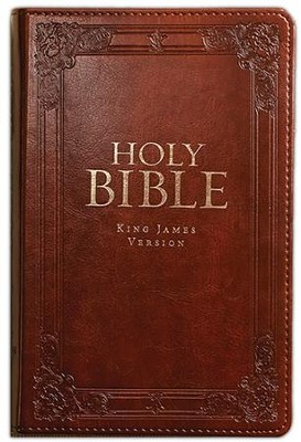 KJV Bible, Lux Leather, Burgundy  -