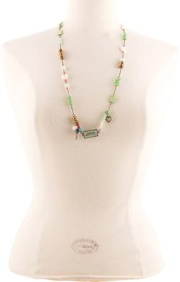 Grace Beaded Necklace with Charms  -