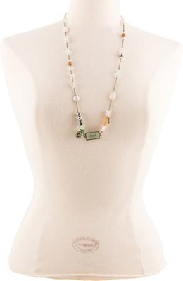 Hope Beaded Necklace with Charms  -