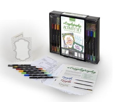 Crayola, #Crayoligraphy Activity Set, 45 Pieces  -