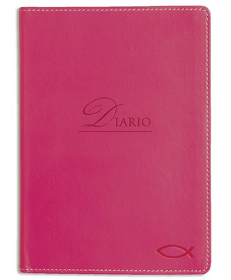 Ichtus, Diario Imitación De Piel, Rosado  (Ichthus Lux-Leather Journal, Pink)  -