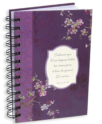 Sabemos Que Dios Dispone... Diario En Espiral, Floral  (Floral, We Know That In All Things, Wirebound Journal)  -