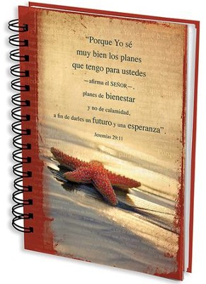 Porque Yo Sé Los Planes, Diario En Espiral, Estrella De Mar  (For I Know The Plans, Starfish, Wirebound Journal)  -