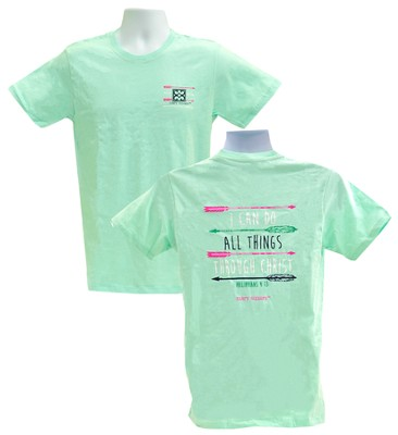 I Can Do All Things Shirt, Mint Green, X-Large  -