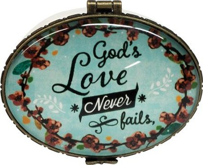 God's Love Never Fails, Keepsake Jewelry Box  -