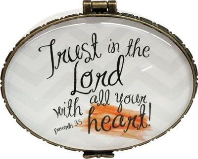 Trust In The Lord With All Your Heart, Keepsake Jewelry Box  -