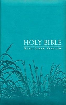 KJV Bible, Lux Leather, Zipper, Turquoise  -