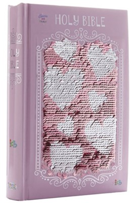 Sequin Sparkle and Change Bible, Pink   -